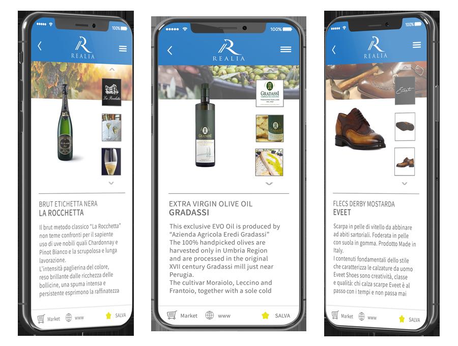 Prodotti Made in Italy Realia App